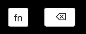 Fn+Backspace